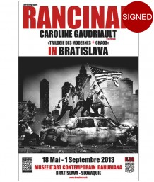 Affiche Chaos - Riots  - Danubiana Museum - 2013